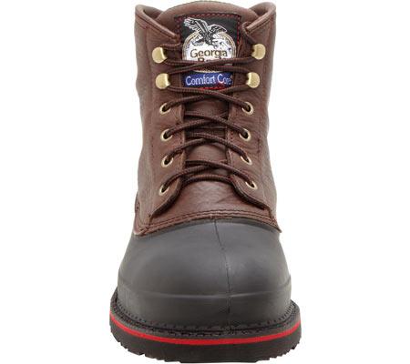 "Men's Georgia Boot G66 6"" MUDDOG Comfort Core Safety Toe Work Boot, Chocolate Full Grain Leather, large, image 4"