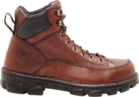 Men's Georgia Boot G63 Wide Load Eagle Light Safety Toe Work Boot, Dark Soggy Brown Full Grain Leather, large, image 2