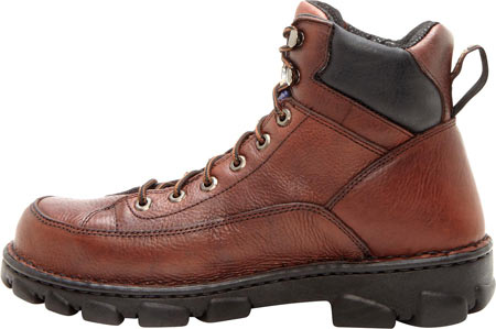 Men's Georgia Boot G63 Wide Load Eagle Light Safety Toe Work Boot, Dark Soggy Brown Full Grain Leather, large, image 3