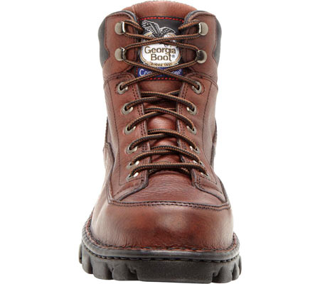 Men's Georgia Boot G63 Wide Load Eagle Light Safety Toe Work Boot, Dark Soggy Brown Full Grain Leather, large, image 4