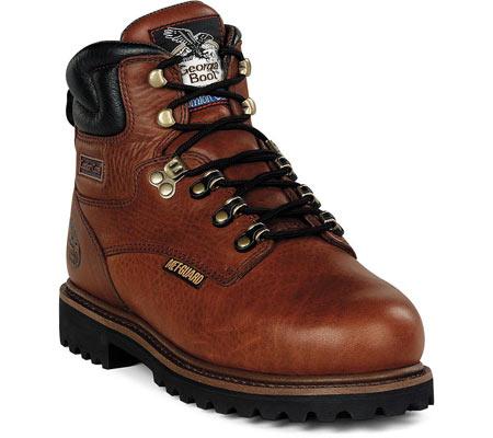 "Men's Georgia Boot G63 6"" Metatarsal Comfort Core Welt Work Boot, Greasy Briar Full Grain Leather, large, image 1"