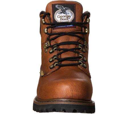 "Men's Georgia Boot G63 6"" Metatarsal Comfort Core Welt Work Boot, Greasy Briar Full Grain Leather, large, image 4"