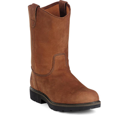 "Men's Georgia Boot G46 11"" Safety Toe SD Wellington Comfort Core, Chocolate Gaucho Oiled Nubuck, large, image 1"