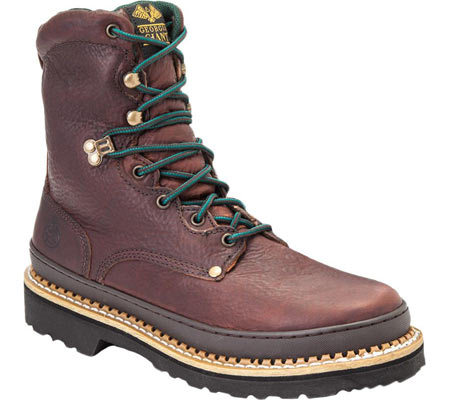 """Men's Georgia Boot G83 8"""" Georgia Giant Safety Toe Work Boot, Soggy Brown Full Grain Leather, large, image 1"""