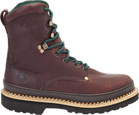 """Men's Georgia Boot G83 8"""" Georgia Giant Safety Toe Work Boot, Soggy Brown Full Grain Leather, large, image 2"""