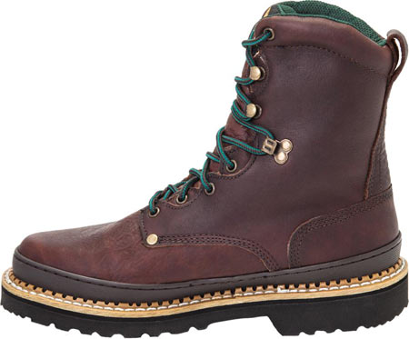 """Men's Georgia Boot G83 8"""" Georgia Giant Safety Toe Work Boot, Soggy Brown Full Grain Leather, large, image 3"""