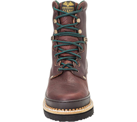 """Men's Georgia Boot G83 8"""" Georgia Giant Safety Toe Work Boot, Soggy Brown Full Grain Leather, large, image 4"""
