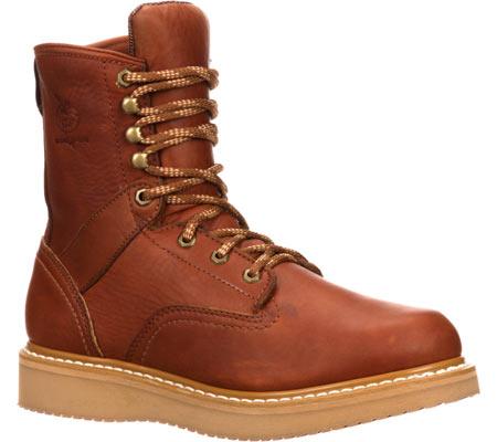 "Men's Georgia Boot G81 8"" Wedge Work Boot, Gold Coast Barracuda SPR Leather, large, image 1"