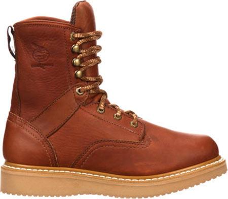 "Men's Georgia Boot G81 8"" Wedge Work Boot, Gold Coast Barracuda SPR Leather, large, image 2"