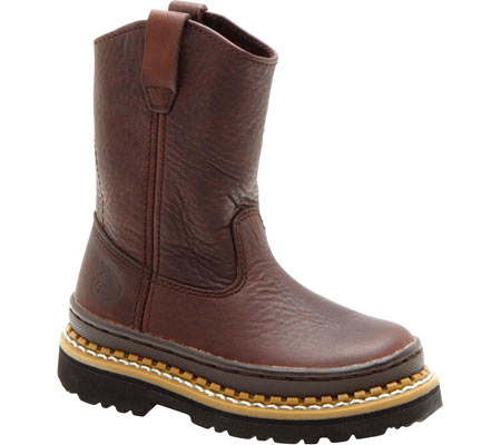 Children's Georgia Boot G20 Little Georgia Giant Wellington Boot, Soggy Brown Leather, large, image 1