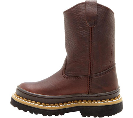 Children's Georgia Boot G20 Little Georgia Giant Wellington Boot, Soggy Brown Leather, large, image 3