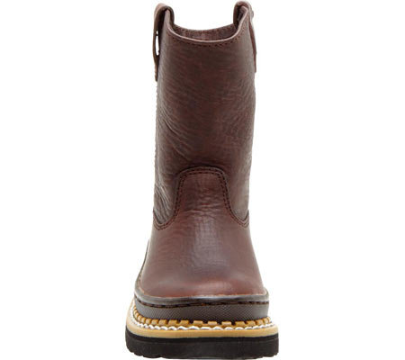 Children's Georgia Boot G20 Little Georgia Giant Wellington Boot, Soggy Brown Leather, large, image 4