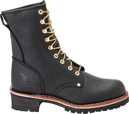 """Men's Georgia Boot G81 8"""" Logger Work Boot, Black Oil Tanned Leather, large, image 2"""