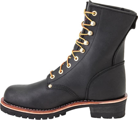 """Men's Georgia Boot G81 8"""" Logger Work Boot, Black Oil Tanned Leather, large, image 3"""