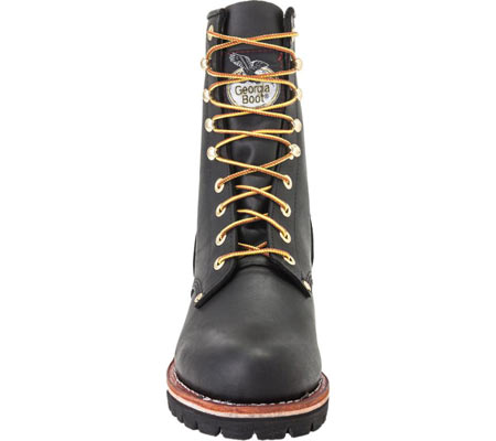 """Men's Georgia Boot G81 8"""" Logger Work Boot, Black Oil Tanned Leather, large, image 4"""