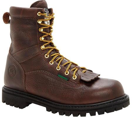 "Men's Georgia Boot G8341 Steel Toe 8"" Heritage Vibram Boot, Tumbled Chocolate, large, image 1"