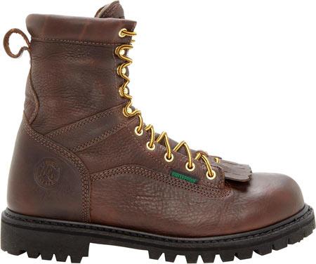 "Men's Georgia Boot G8341 Steel Toe 8"" Heritage Vibram Boot, Tumbled Chocolate, large, image 2"