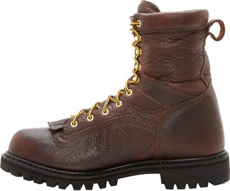 "Men's Georgia Boot G8341 Steel Toe 8"" Heritage Vibram Boot, Tumbled Chocolate, large, image 3"