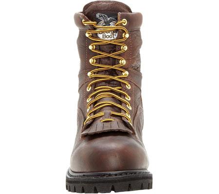 "Men's Georgia Boot G8341 Steel Toe 8"" Heritage Vibram Boot, Tumbled Chocolate, large, image 4"