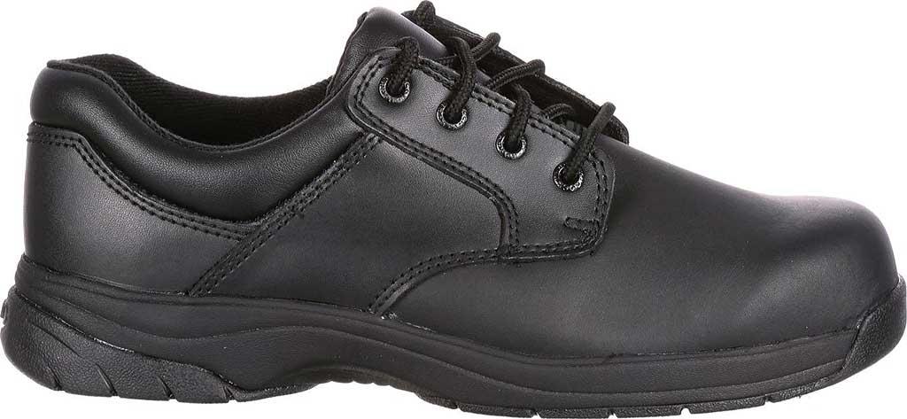 Men's Rocky SlipStop Plain Toe Oxford 2034, Black Full Grain Leather, large, image 2