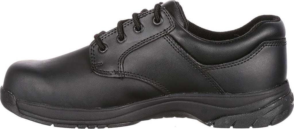 Men's Rocky SlipStop Plain Toe Oxford 2034, Black Full Grain Leather, large, image 3