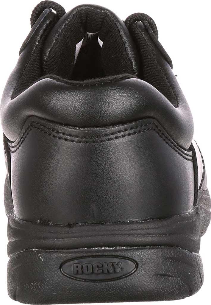 Men's Rocky SlipStop Plain Toe Oxford 2034, Black Full Grain Leather, large, image 4