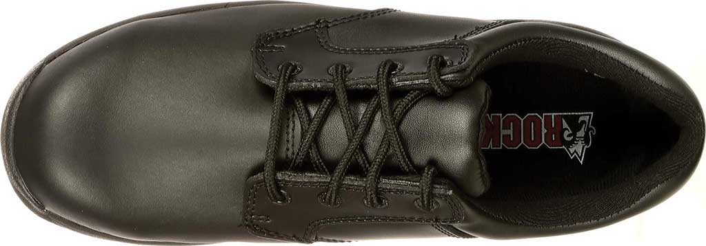 Men's Rocky SlipStop Plain Toe Oxford 2034, Black Full Grain Leather, large, image 5