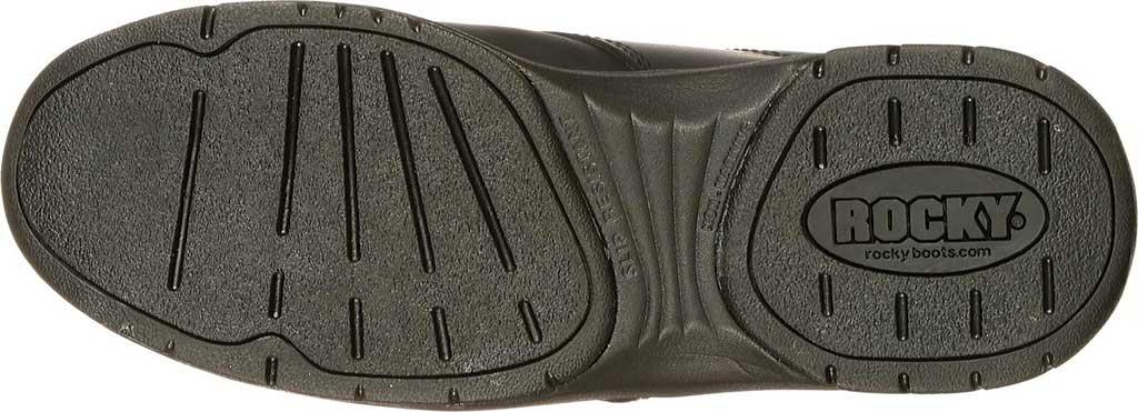Men's Rocky SlipStop Plain Toe Oxford 2034, Black Full Grain Leather, large, image 6