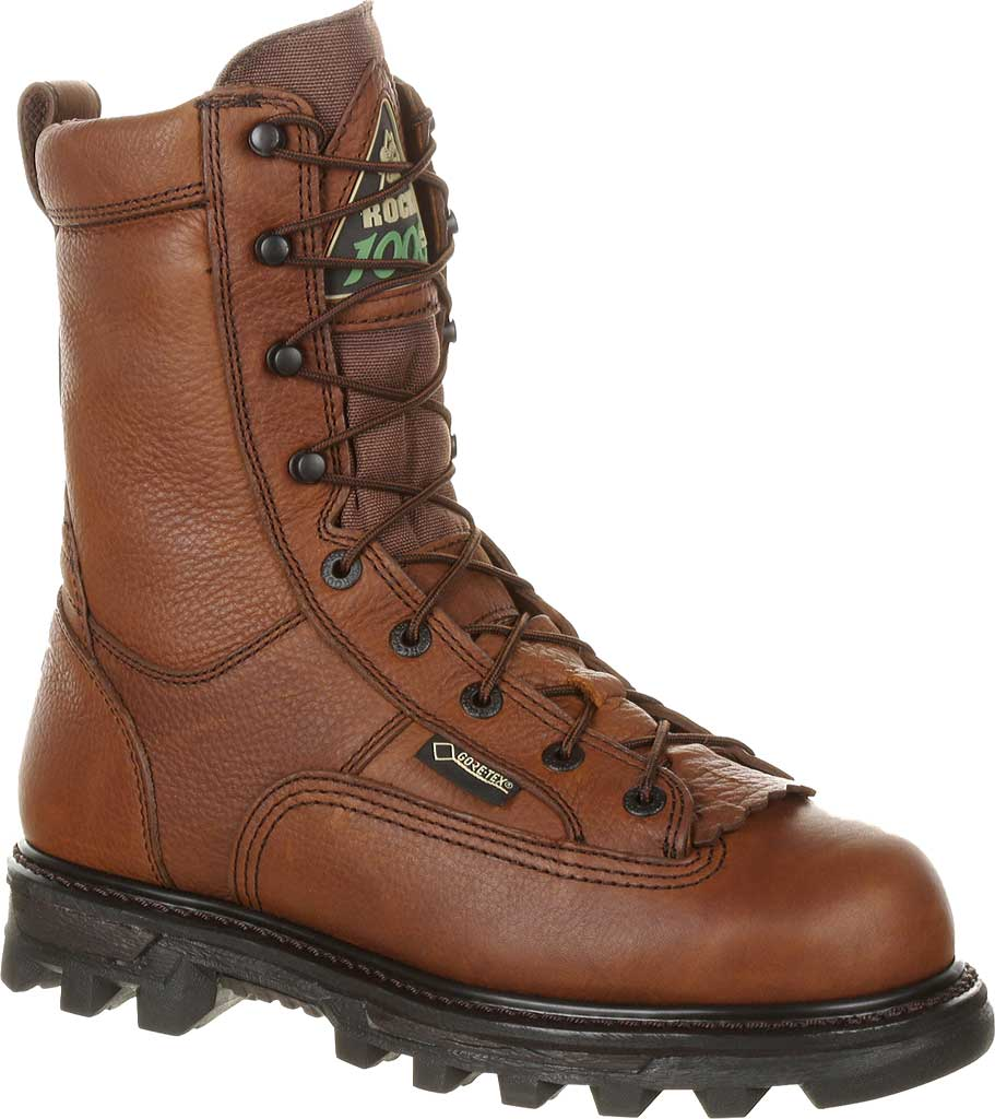 """Men's Rocky 9"""" Lace to Toe BearClaw 9234, Red/Brown Full Grain, large, image 1"""