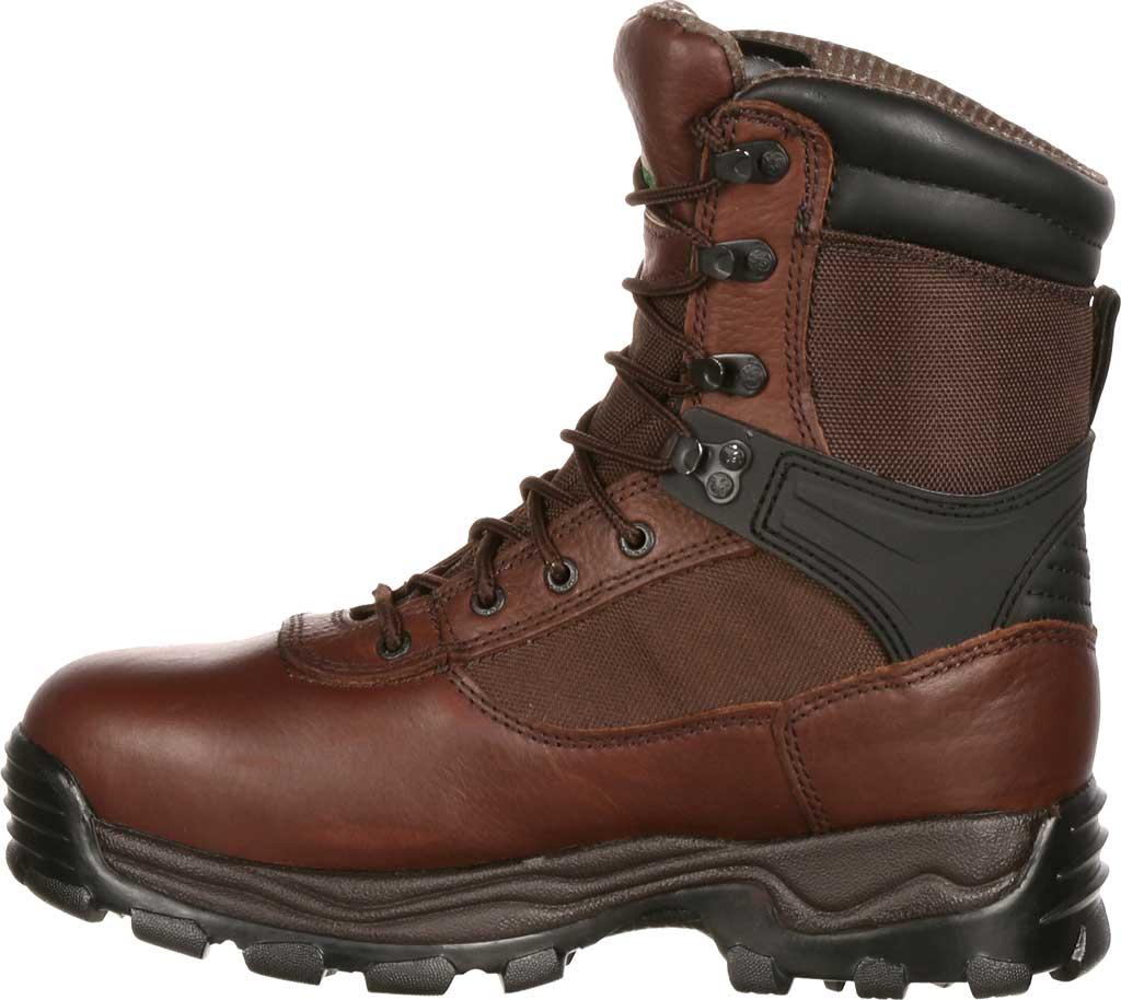 "Men's Rocky 8"" Rebels 6486 Boot, Dark Brown, large, image 3"