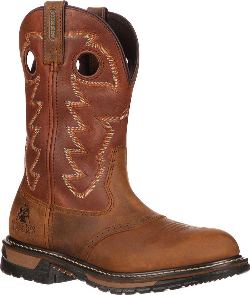 "Men's Rocky 11"" Branson Saddle Roper, Aztec Crazy/Ochre Leather, large, image 1"