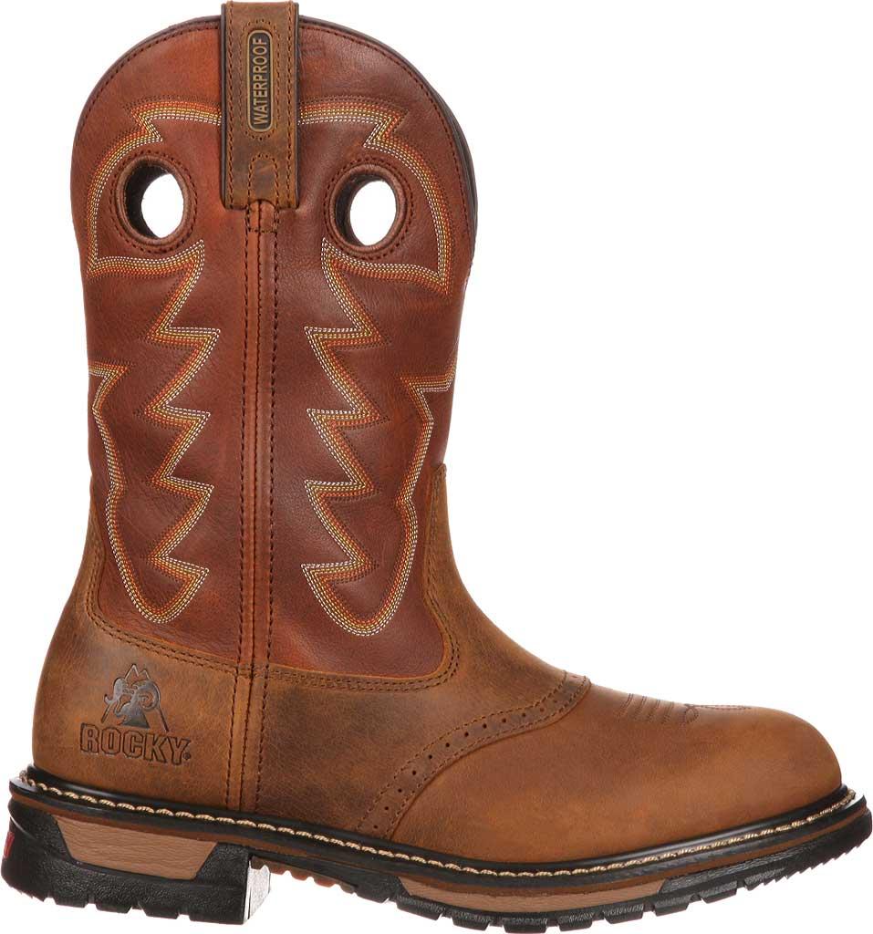 "Men's Rocky 11"" Branson Saddle Roper, Aztec Crazy/Ochre Leather, large, image 2"