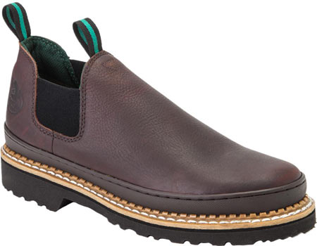 Men's Georgia Boot Georgia Giant Romeo Work Shoe, Soggy Brown Full Grain Leather, large, image 1