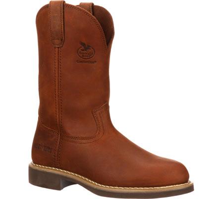 "Men's Georgia Boot G58 11"" Comfort Core Wellington Work Boot, Chestnut Prairie SPR Leather, large, image 1"