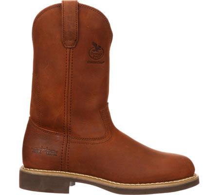 "Men's Georgia Boot G58 11"" Comfort Core Wellington Work Boot, Chestnut Prairie SPR Leather, large, image 2"