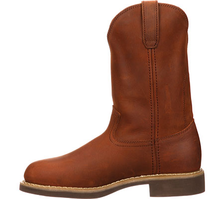 "Men's Georgia Boot G58 11"" Comfort Core Wellington Work Boot, Chestnut Prairie SPR Leather, large, image 3"