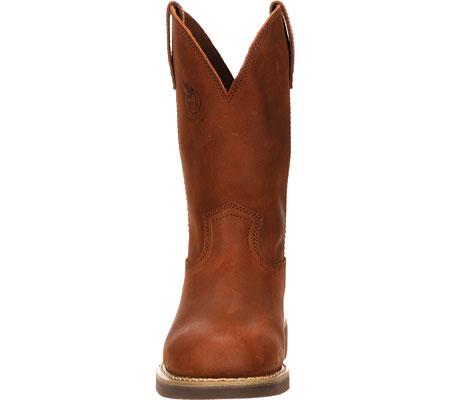"Men's Georgia Boot G58 11"" Comfort Core Wellington Work Boot, Chestnut Prairie SPR Leather, large, image 4"