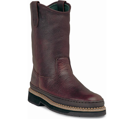 """Men's Georgia Boot G43 11"""" Safety Toe Georgia Giant Wellington Boot, Soggy Brown Full Grain Leather, large, image 1"""