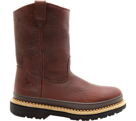 """Men's Georgia Boot G43 11"""" Safety Toe Georgia Giant Wellington Boot, Soggy Brown Full Grain Leather, large, image 2"""
