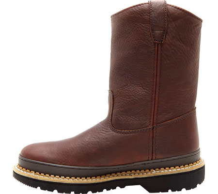 """Men's Georgia Boot G43 11"""" Safety Toe Georgia Giant Wellington Boot, Soggy Brown Full Grain Leather, large, image 3"""