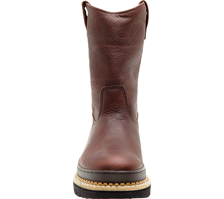 """Men's Georgia Boot G43 11"""" Safety Toe Georgia Giant Wellington Boot, Soggy Brown Full Grain Leather, large, image 4"""