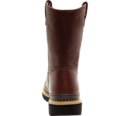 """Men's Georgia Boot G43 11"""" Safety Toe Georgia Giant Wellington Boot, Soggy Brown Full Grain Leather, large, image 5"""