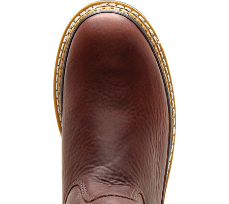 """Men's Georgia Boot G43 11"""" Safety Toe Georgia Giant Wellington Boot, Soggy Brown Full Grain Leather, large, image 6"""