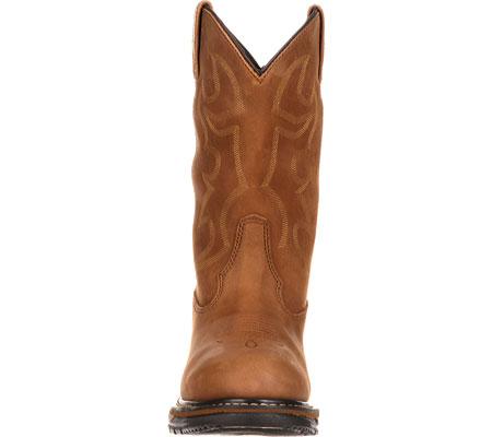 """Men's Rocky Branson 11"""" Steel Toe Waterproof Boot 2809, Aztec Crazy Horse, large, image 4"""