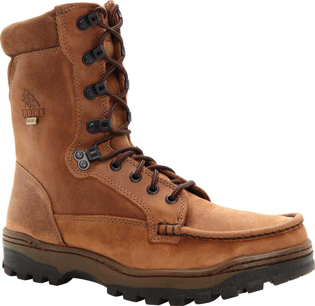 """Men's Rocky 8"""" Outback 8729, Brown1, large, image 1"""