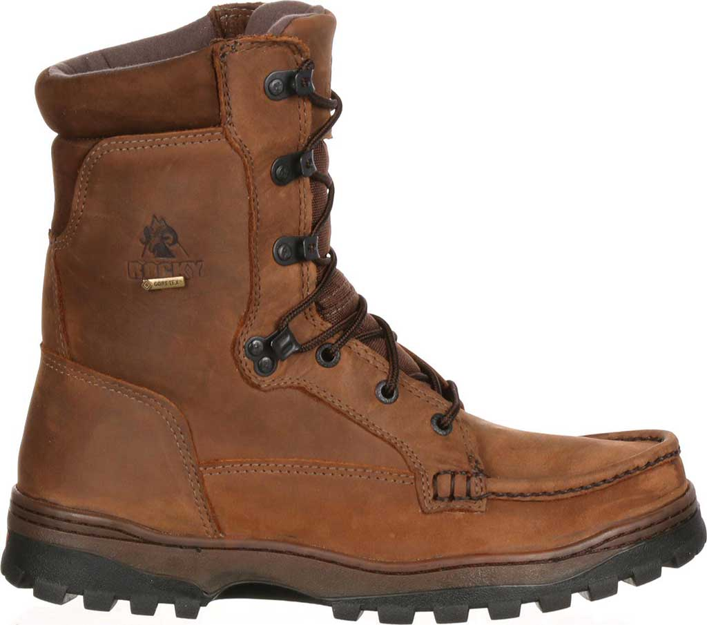 """Men's Rocky 8"""" Outback 8729, Brown1, large, image 2"""