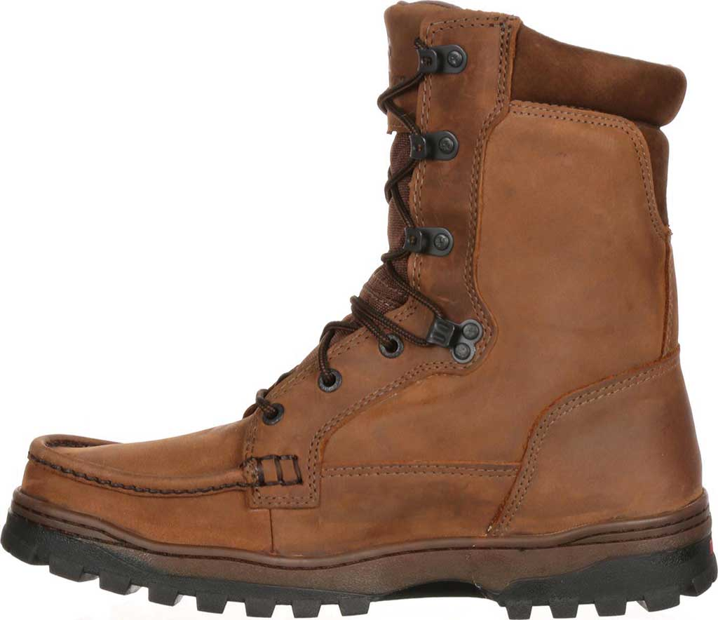 """Men's Rocky 8"""" Outback 8729, Brown1, large, image 3"""