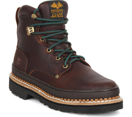 """Women's Georgia Boot G33 6"""" Safety Toe B Work Boot, Soggy Brown Full Grain Leather, large, image 1"""