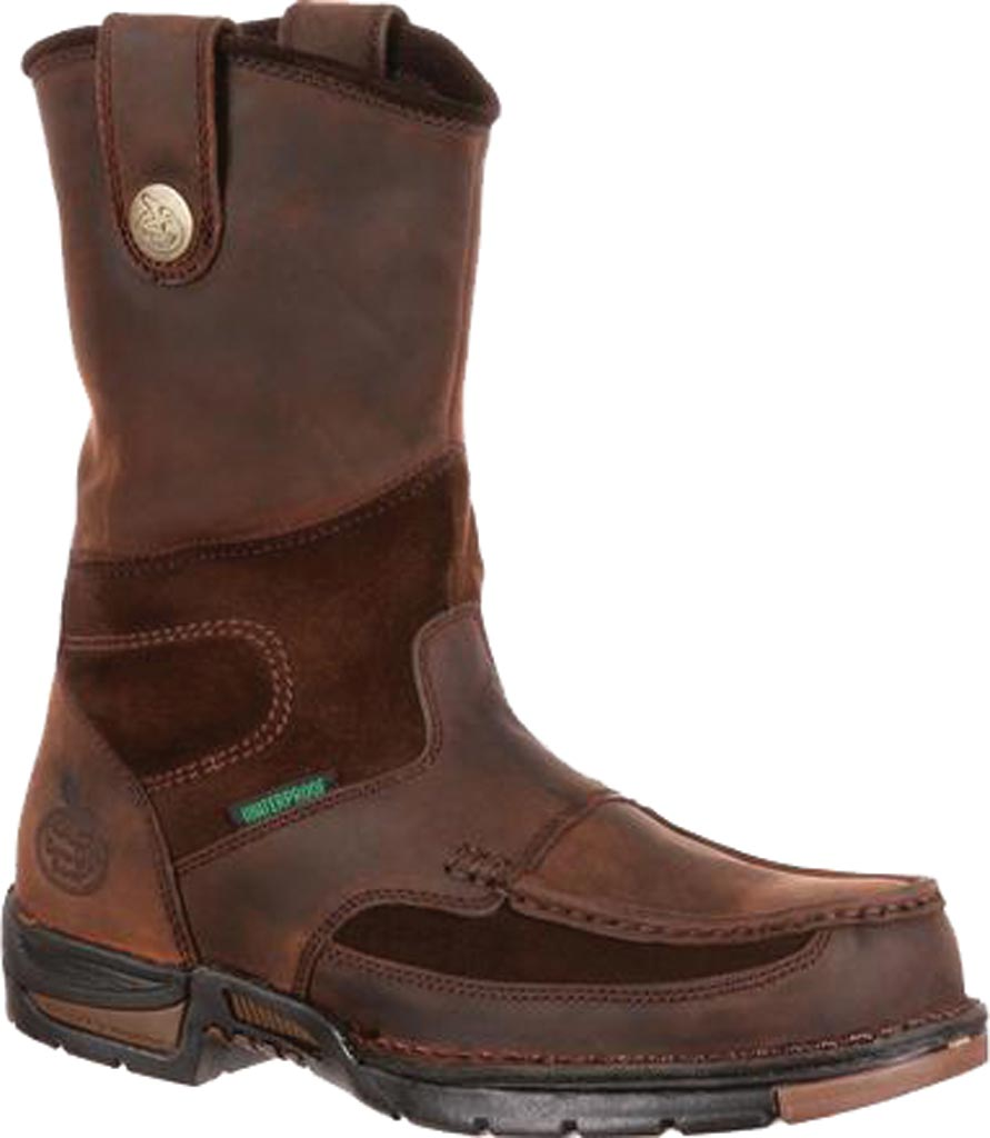 Men's Georgia Boot G4603 Athens Pull-On Steel Toe, Brown1, large, image 1