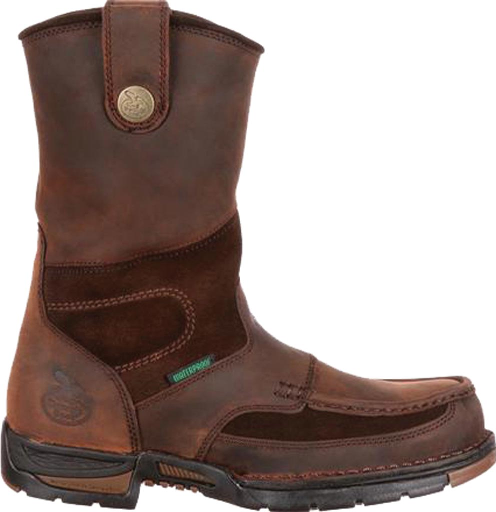 Men's Georgia Boot G4603 Athens Pull-On Steel Toe, Brown1, large, image 2